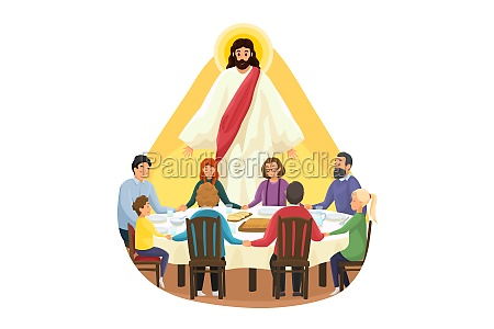 christianity family meal religion protection prayer