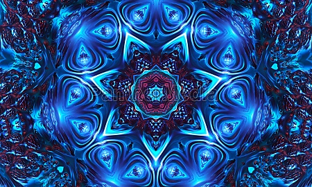 mystic background celtic knot shape blue