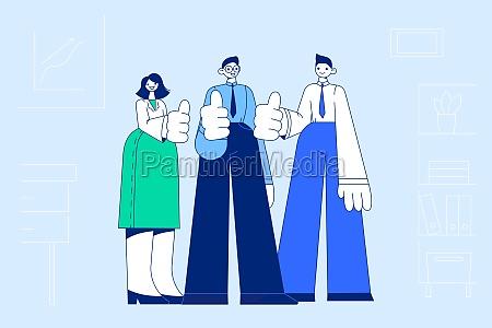 teamwork success collaboration concept