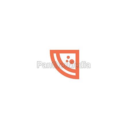 pizza icon logo design vector template