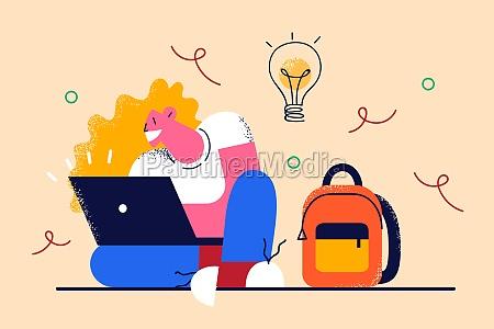 having creative ideas and freelance concept