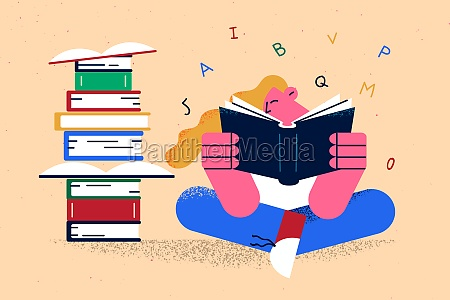 education reading books learning concept