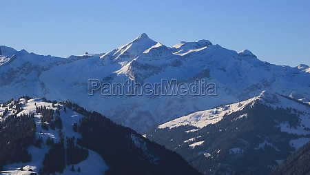 distant view of the diablerets mountain