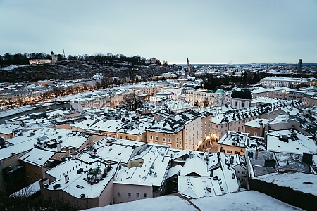 salzburg old city at christmas time