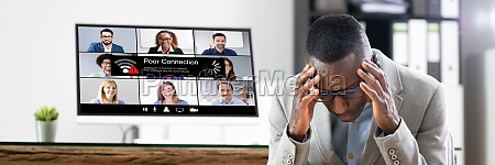 online video meeting bad connection