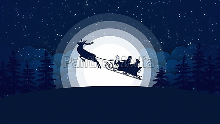 christmas card with santa claus and