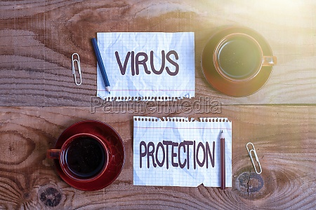 text showing inspiration virus protection business