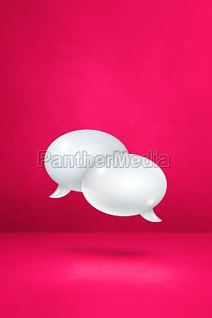 white speech bubbles on pink vertical