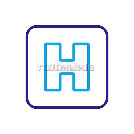 hospital vector icon medicine and healthcare