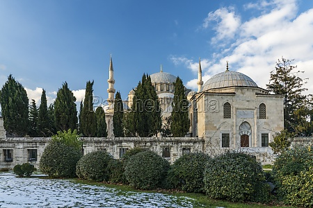 turkey istanbul exterior of suleymaniye mosque