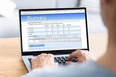 online customer survey form filling feedback