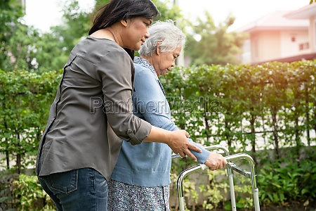 help and care asian senior or