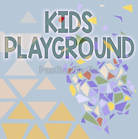 text showing inspiration kids playground business