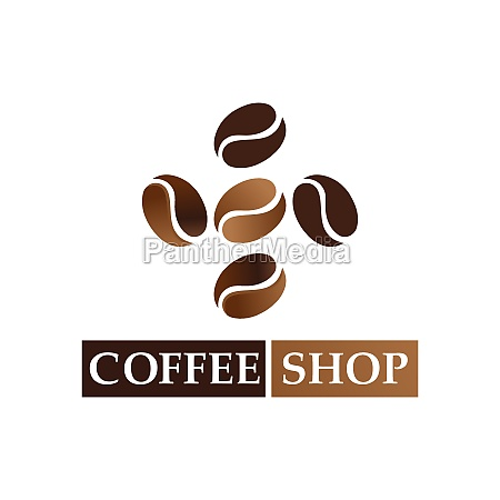 coffee bean logo and symbol shop