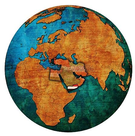 map of yemen territory located in