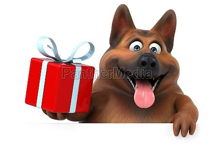 fun german shepherd dog 3d