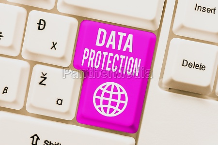 text caption presenting data protection concept