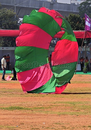 indian hindus fly the kite during