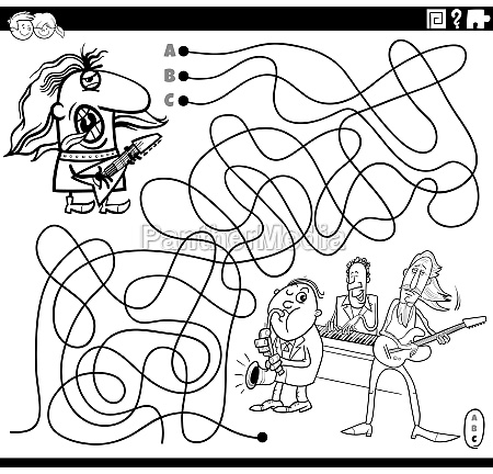 maze with guitarist and music band