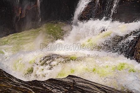 fast flowing river water of beautiful