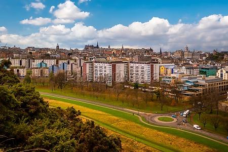 old town edinburgh city skyline scotland