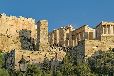 acropolis long distant view athens greece