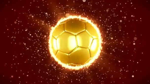 sport red background ball gold light