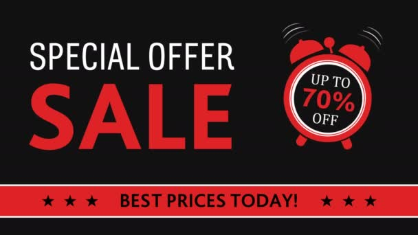red shopping discount retail sale sign