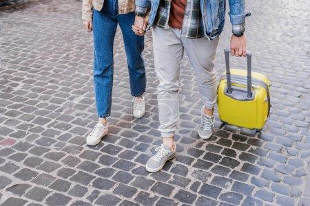 yellow white travel girl outdoors man