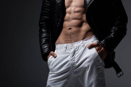 young, adult, man, style, stylish, shirtless - B324917688