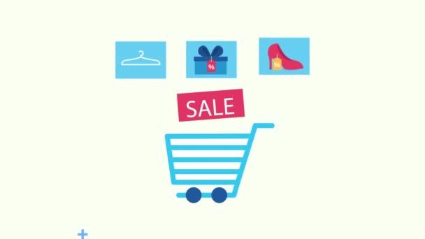 graphic illustration shopping consumerism retail sale