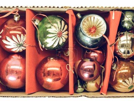 sphere red box celebration christmas decoration