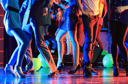 fun group nightlife clubbing background design