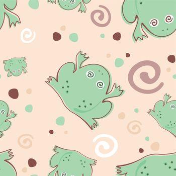 frog vector design pattern textile cartoon