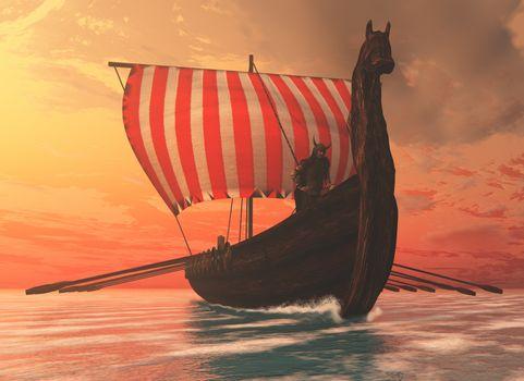 viking longboat boat longship ancient armor