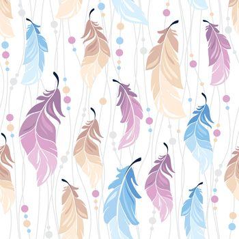 pattern feather seamless background boho bohemian