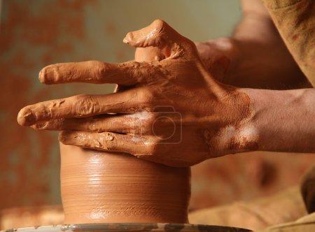 shape human art brown cup ceramic