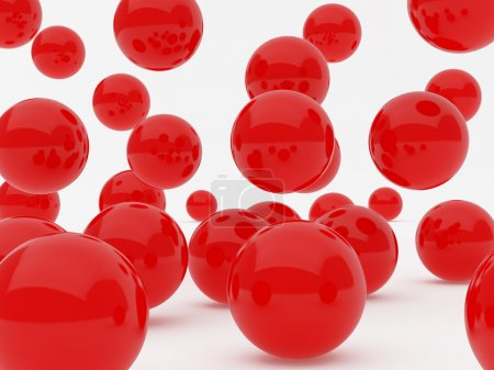 balls color sphere image red white