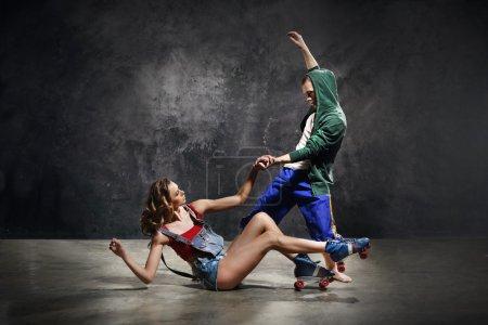 sport elegance love girl scene action