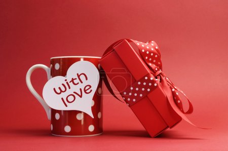 fun red white background on gift