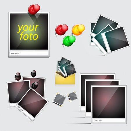 white, vector, background, illustration, design, set - B25662489