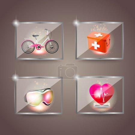 sport, vector, design, set, equipment, relaxation - B24365571