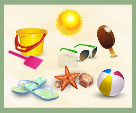 leisure fun vector ball illustration design