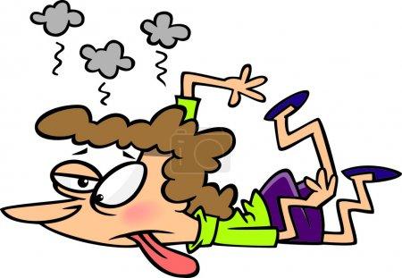 person, female, people, women, cartoon, lying - B14003567