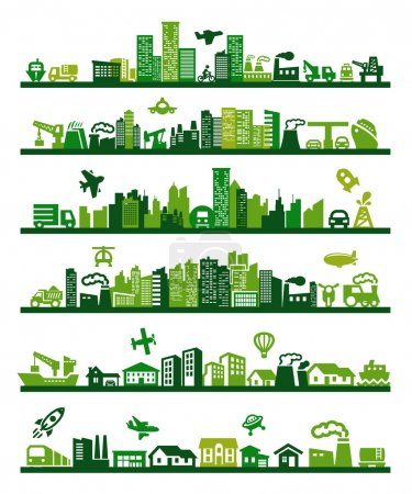 green, group, vector, on, graphic, illustration - B14868301