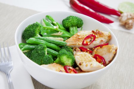 green fresh ginger healthy meat food