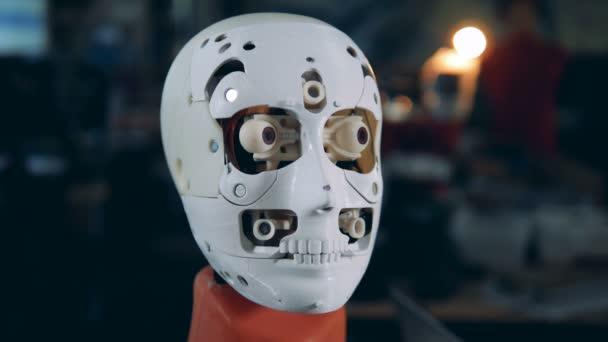 white artificial business metal human head