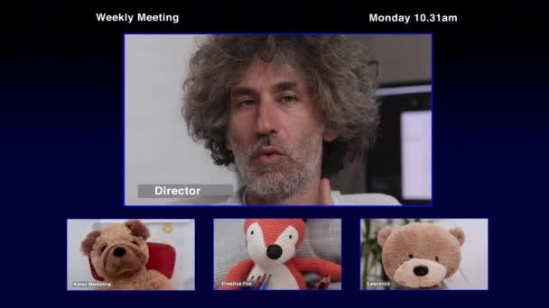 fun business cute face man technology