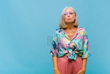 fun, blue, colorful, happy, love, female - B408440708