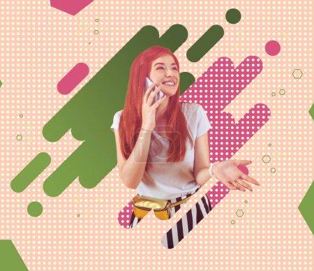 illustration shape birthday happy bright girl